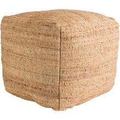 Bring rustic charm to any room with the Seaport Pouf Ottoman from Surya. Designed for comfort, this richly textured, square pouf is hand woven from jute, creating extra seating in any room or the perfect place to prop up your feet while you relax. Accent Furniture, Living Room Furniture, Home Furniture, Funky Furniture, Square Pouf, Pouf Ottoman, Natural Texture, Home Decor Outlet, Decoration