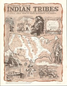 Map of the Indian Tribes of the United States