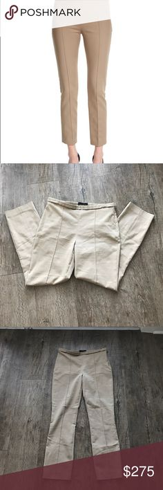 """The Row Neutral Trousers Pre-Loved and excellent condition. Stretch know pants. Cotton/spandex. Side zip. Moderate rise sits below waist.  26"""" inseam, 36"""" outseam, Flat waist 15"""" The Row Pants"""