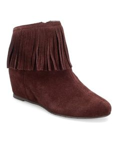 Takes me back to the '70s! Love this Berry Riverton Suede Bootie on #zulily! #zulilyfinds