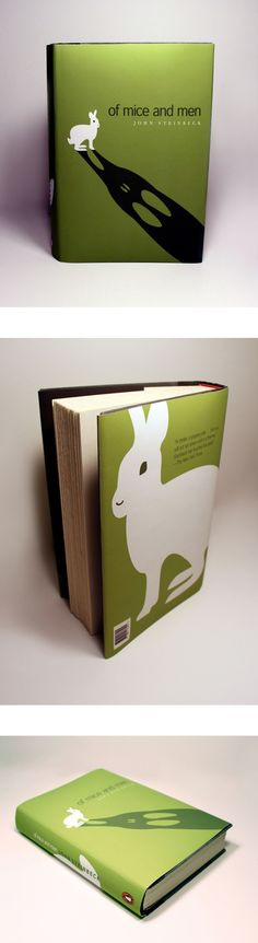 interesting idea of designing a book cover. The image draws attention