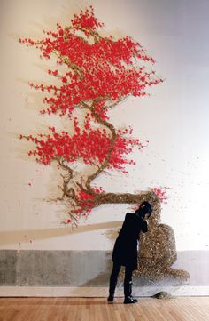 Ran Hwang, Asianartworks.net Made from buttons etc.