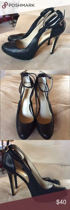 INC International Concepts Black Lucey Heels Only signs of wear are on the bottom. Leather upper. INC International Concepts Shoes Heels