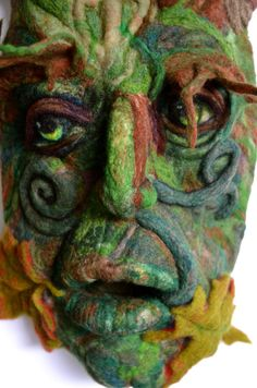 Green Man needle felted by Richard Hanna by RichardHannaFelt, $330.00