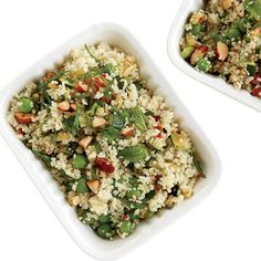 Couscous Salad with Zucchini and Roasted Almonds - make this all the time! use pine nuts instead of you've got em