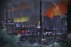 Dystopia! Climate Destrucion, Future, Industry, chemical, Photoshop Art, surreal  Klimawandel, Zukunft, Industrie, chemisch, Photoshop Kunst, surreal  More at: www.SagtMirNix.net