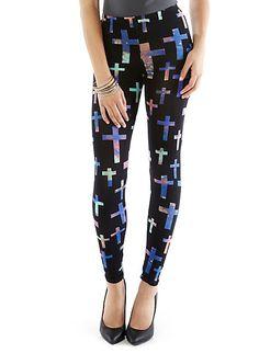 Cross and Galaxy Leggings