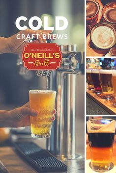 Cold craft brews are always on tap at O'Neill's Grill in Harrisonburg, Virginia. Less than a mile from JMU! Enjoy a game a beer here. Visit oneillsgrill.com to see our beer list.