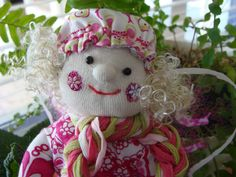 spring Angel Hand Sewing, Teddy Bear, Angel, Dolls, Christmas Ornaments, Holiday Decor, Spring, Handmade, Sewing By Hand