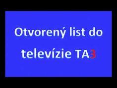 17.04.2020 Otvorený list generálnej riaditeľke TA3 – PhDr. Martine Kyselovej - YouTube Youtube, Youtubers, Youtube Movies
