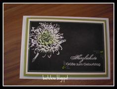 Geburtstagskarte in Chalktechnik für meine Freundin
