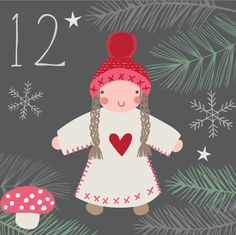 Advent day 12 Christmas tree decoration Christmas Calendar, Christmas Countdown, Christmas Art, Christmas Greetings, Christmas Traditions, Beautiful Christmas, Christmas Tree Decorations, Vintage Christmas, Advent Calander
