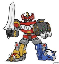 Daizyujin, the Megazord by JoelRCarroll on DeviantArt Dino Rangers, Pawer Rangers, Cartoon Styles, Cartoon Art, Desenho Do Power Rangers, Power Rangers Megazord, Power Ranger Party, Character Art, Character Design