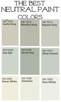 Rustic Paint Colors modern farmhouse color palette. best paint colors for modern