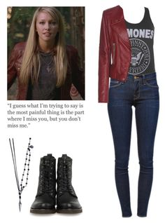 """""""Ruby - spn / supernatural"""" by shadyannon ❤ liked on Polyvore featuring title of work, Frame Denim, Frye and Balenciaga"""