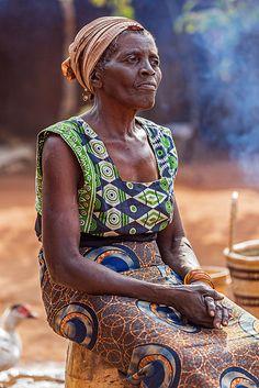 Chief Mukuni Village, Zambia - I wonder what is on her mind...