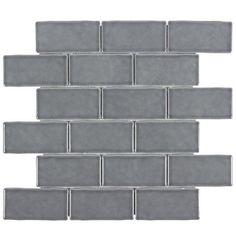 Nickel Brick Ceramic Mosaic - 12in. x 12in. - 100418649   Floor and Decor