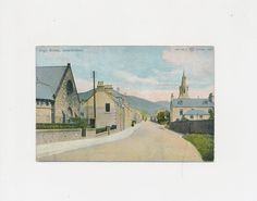 old color postcard of High Street, Innerleithen, Scotland,  1923 by mudintheUSA on Etsy