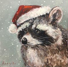 Christmas Artwork, Christmas Canvas, Christmas Paintings, Christmas Pictures, Christmas Rock, Winter Painting, Christmas Animals, Illustrations, Animal Paintings
