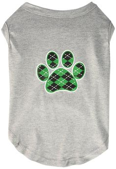 Mirage cat Products Argyle Paw Green Screen Print Shirt Grey XL (16) *** Find out more details by clicking the image