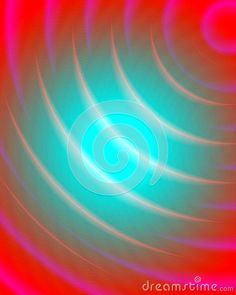Circular abstract pink background with radiant circles in pink and blue hues.