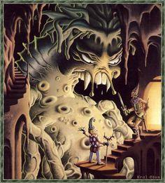 "sepiachord: "": ""Erol Otus, cover of Dragon Magazine #55 "" """