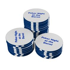 """""""Design Your Own"""" Poker Chips are perfect for game night! Great for poker nights at home, the dorm, in the man cave, etc. Personalize to say..."""