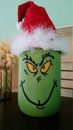 This piece is my absolute favorite!! Super super super ADORABLE quart size Grinch mason jar. This one is a must have!! It is made to order, so please allow about 7 to 10 business days to process the order and ship. This product takes a little more time to finish, so it takes a couple of more days to process. I hope you love it