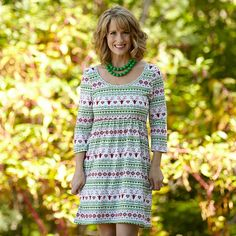 Ladies Holiday Knit Olivia Dress – Lolly Wolly Doodle