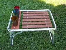 Retro Aluminum Patio Furniture vintage metal chairs and retro patio tables - vintage gliders