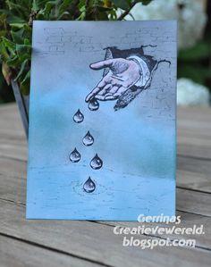 Gerrina's Creatieve Wereld: using Designs by Ryn: Raindrop Set stamps