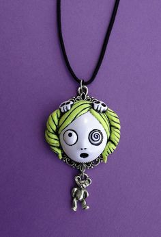 Dollie Necklace with Teddy charm by MyOddities on Etsy