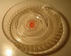 Gorredijk - Brons - reclame asbak van glas - diameter circa 16 cm