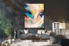 Large Painting on Canvas,Extra Large Painting on Canvas,large interior art,original painting,canvas large,texture wall art FY0069