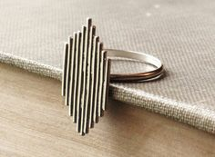 Sterling Silver Statement Ring on Etsy
