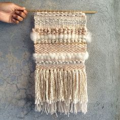 Handmade Wall Weaving by Hunter NY Soft Palette, Texture & a Sliver of Gold www.hunter-ny.com #hunterobjects