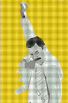 Needs a rainbow backgound Cross Stitch Quotes, Cross Stitch Love, Cross Stitch Designs, Cross Stitch Patterns, Freddie Mercury, Cross Stitching, Cross Stitch Embroidery, Graph Paper Art, Alpha Patterns