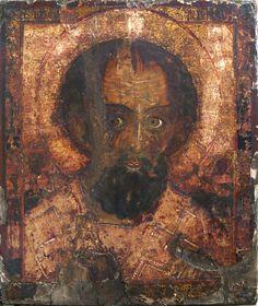 """Икона """"Св. Николай Чудотворец - Отвратный"""" 41Х35,5 XIXв. Ветка"""