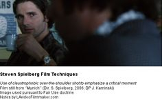 Spielberg Techniques - Claustrophobic over-the-shoulder shots: an example from 'Munich'
