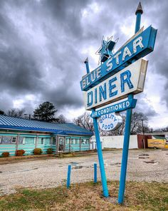 C- the blue star diner header is great inspiration