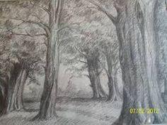 Resultado de imagen de paisaje dibujo a lapiz
