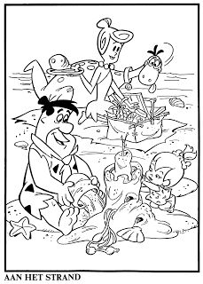 hanna barbera world os flintstones coloring book