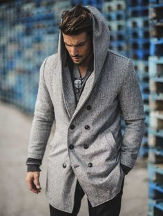 British Men's Hooded Wool Coat British Men's Hooded Wool Coat – Lolayalls Gentleman Mode, Gentleman Style, Rugged Style, Mode Masculine, Mdv Style, Men's Style, Street Style Magazine, Hooded Wool Coat, Hooded Jacket