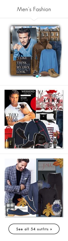 """Men's Fashion"" by elena-starling ❤ liked on Polyvore featuring American Vintage, David Beckham, Dsquared2, Doublju, Viberg, Stetson, Kenneth Cole, August Steiner, Revo and menswear"