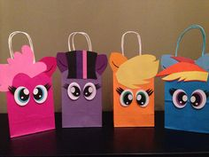 One Dozen 12 My little pony inspired favorBags by CustomizeMee, $33.00. use for eyes