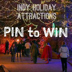 REPIN our guide to Indy Holiday Attractions by Thursday, December 11 to enter to win four tickets to the Indianapolis Zoo. We'll pick a winner at 12 pm.