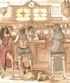 At the Saloon by Paso.deviantart.com on @deviantART