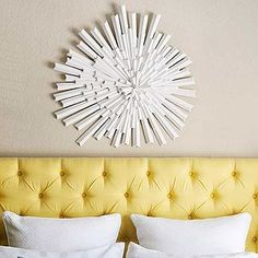 Tidy up your bedroom with storage right in your headboard. Check out these creative ideas for savvy bedroom storage inspiration. Cheap Diy Headboard, Headboard Makeover, Diy Tufted Headboard, Iron Headboard, Headboard Cover, Custom Headboard, Headboard Designs, Diy Headboards, Bedroom Storage Inspiration