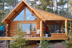 Great Lakes School of Log Building and Stonemasonry ~ student cabin
