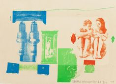 Post-War & Contemporary:Pop, ROBERT RAUSCHENBERG (American, 1925-2008). Romances (Myth),1977. Lithograph in colors on Barcham Green De Wint paper. 2... Image #1